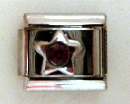 9mm tamaño clásico italiano encantadoras Piedras preciosas Estrella Granate enero