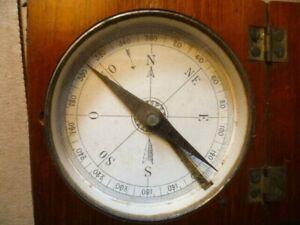 Kompass Marine IN Seinem Schmuckkästchen Mahagoni Fein Xixè