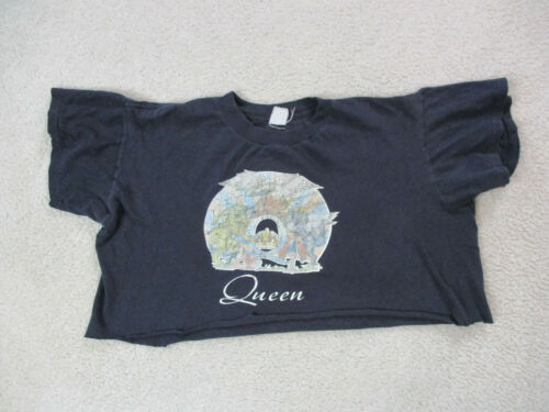 VINTAGE Queen Concert Shirt Womens Extra Large Bla