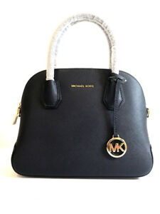 Details about NWT, MICHAEL KORS CINDY MEDIUM POCKET DOME LEATHER SATCHEL ADMIRAL $268