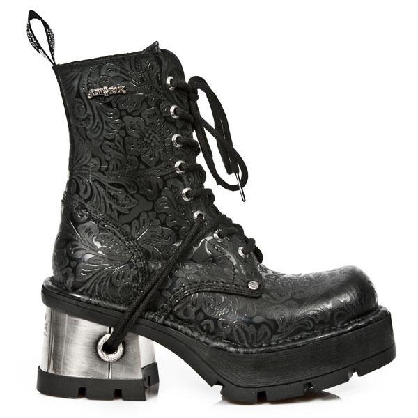 New Rock Stiefel Boots Damen gothic schwarz Vintage M.8355-S2