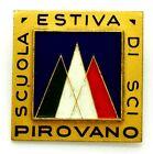 Spilla Scuola Estiva Di Sci - Pirovano (Bertoni Milano) cm 3 x 3