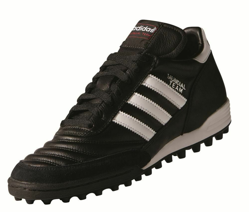 Adidas mundial equipo botas de fútbol multinocken zapatos caballero negro blancoo rojo