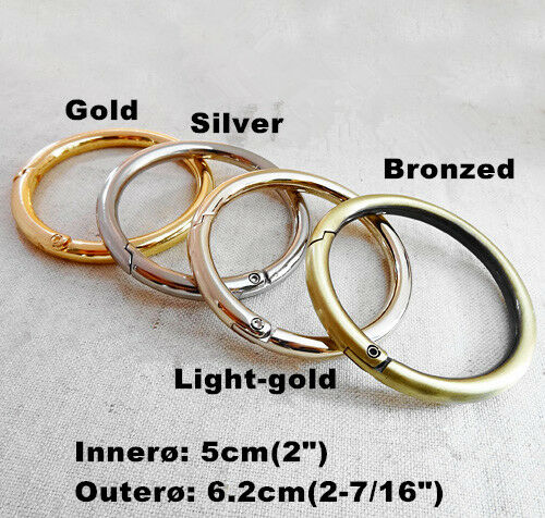 "Snap Clip Trigger Spring Gate O Ring Keyring Buckle Bag Accessories Rings 3//4/""1/"""