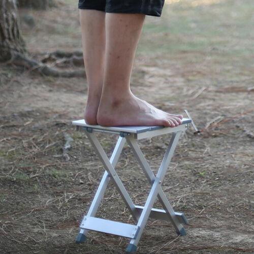 Klappbar Alu Hocker Sitzhocker Klappstuhl Campinghocker für Camping Angeln,