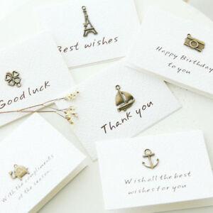 Lots-10Pcs-Retro-Metal-Greeting-Card-Blessing-Wish-Cards-Wedding-Decor-Ornament