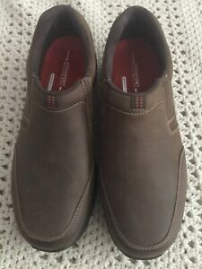 Size 10M Brown Leather Casual Slip