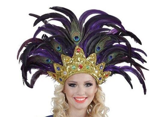 BAHIA Piuma Cabaret Mardi Gras Showgirl Copricapo Indiano Burlesque Costume