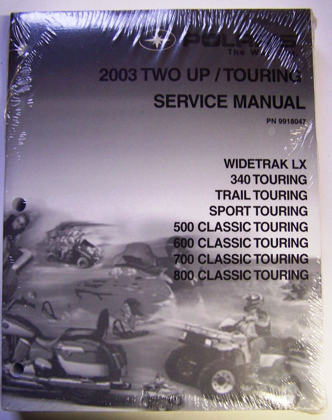 2003 Polaris Two Up Touring Snowmobiles Factory Dealer Service Manual - Sealed