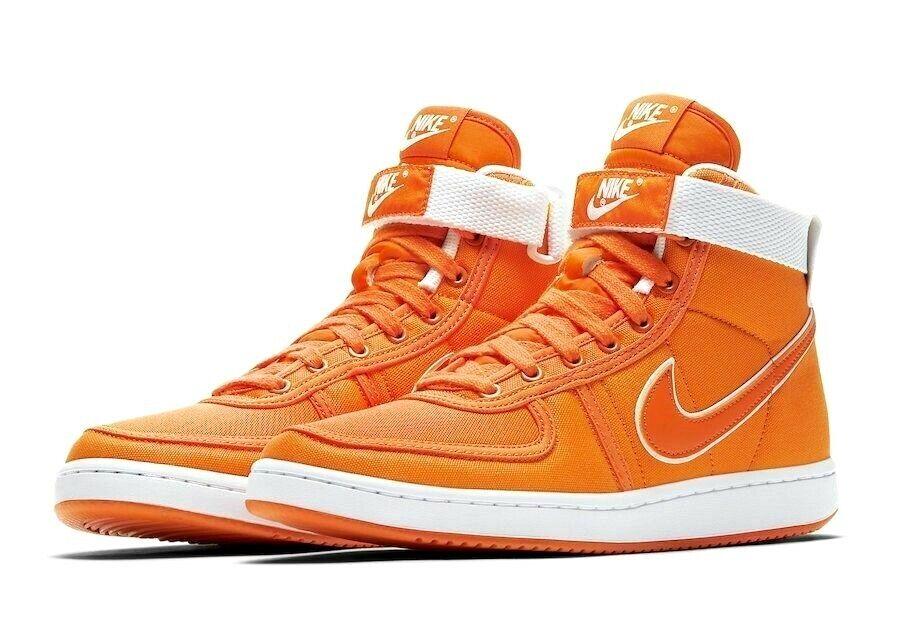 Nike Vandal High Supreme CNVS QS Fashion Sneakers orange White AH8605 800 Size 9