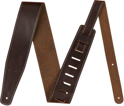 "Genuine Fender Broken-In Leather Strap Brown 2.5/"" 099-0641-050"