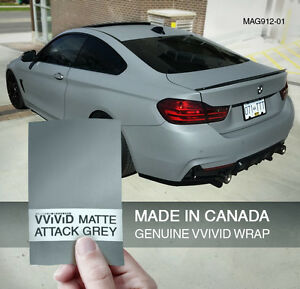 Matte Grey Car >> Details About Vvivid 3mil Matte Attack Nardo Grey Vinyl Car Wrap Decal