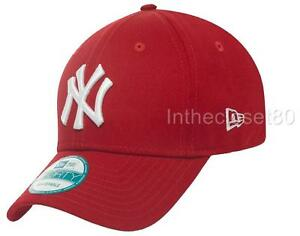 f49495c5c4ef4 New Era 9Forty New York NY Yankees Adjustable Cap Red White Men ...