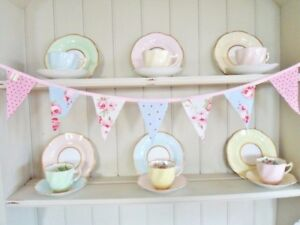 Designer-Fabric-Bunting-Vintage-Home-Office-Decorations-Gorgeous-Mini-Bunting