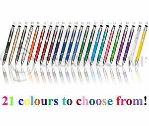 Promotional Personalised Laser Engraved Metal Ballpoint Pen 26 colours!