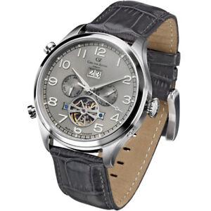 Carl-von-Zeyten-CVZ0003SGY-Schoenwald-Automatik-grau-Leder-Armband-Uhr-Herren-NEU