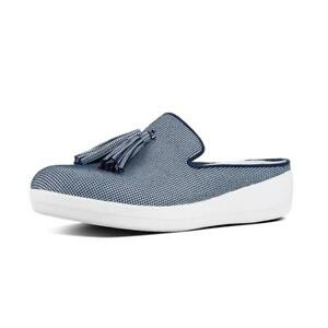 b02e8d7ea4cb5 Image is loading NEW-Fitflop-Superskate-Houndstooth-Print-Slip-On-Mules-