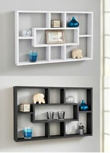 new product e6152 7a907 Details about Stylish Space Saving Floating Wall Shelves Display Shelf  Bookshelf Storage Unit
