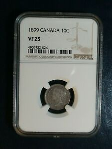 1899-Canada-Ten-Cents-NGC-VF25-10C-SILVER-COIN-PRICED-TO-SELL-NOW
