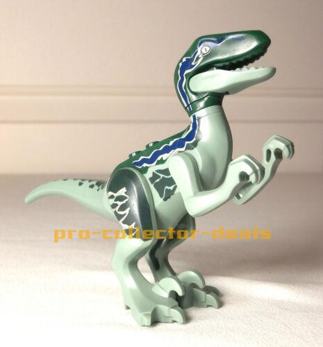 Blue Minifigure Raptor Jurassic World Fallen Kingdom Dinosaur Indominus Rex Park