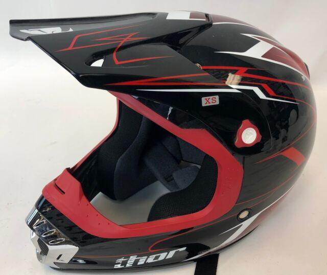 THOR Red Black Pinstripe Quadrant Motorcycle Dirt Bike ATV