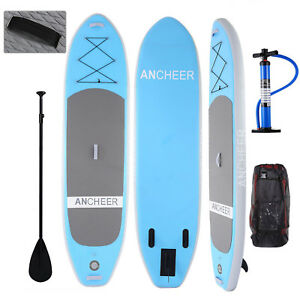 Ancheer-10-039-6-039-039-Inflatable-SUP-Stand-Up-Paddle-Board-Package-6-034-Thick-w-Paddle