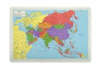 Painless Learning Asia Map Placemat Free Shipping