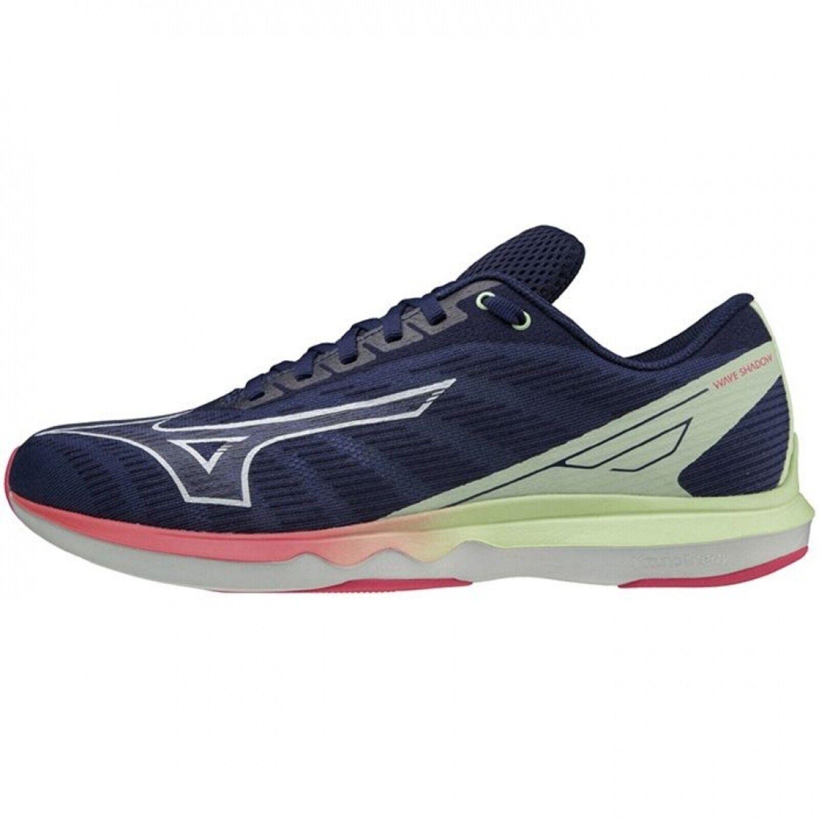 Mizuno Wave Shadow 5 [J1GC213025] Men Running Shoes Navy / White / Volt