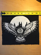 Owl - occult magic symbolical fantasy fairytale back patch by Mike Vivisector