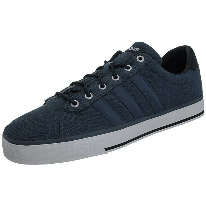 Adidas Daily bluee men's canvas lifestyle low-top sneakers trainers cloudfoam NEW