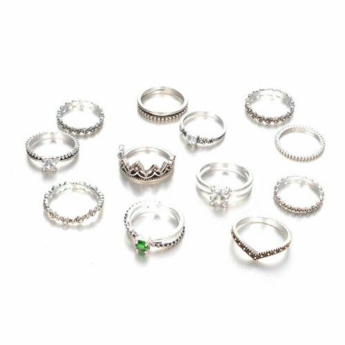12pcs//Set Ring Women Boho Retro Vintage Festival Fashion Jewelry Gift
