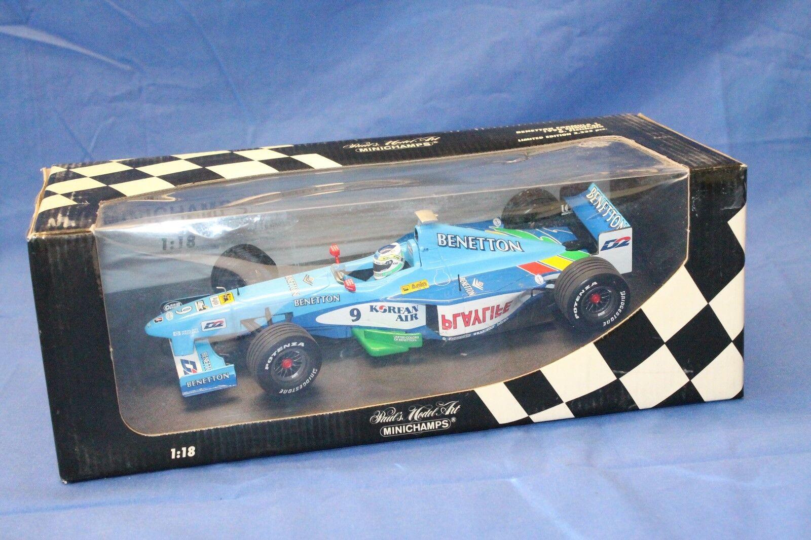 Minichamps 1 18 Benetton Formula 1 1999 car G FISICHELLA 180 990079