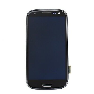 Black Full LCD Touch Screen Glass Digitizer & frame For Samsung Galaxy S3 i9300