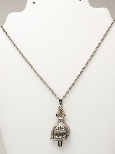 UTOPIA: MARCASITE BALLERINA WATCH PENDENT WITH NECKLESS CHAIN