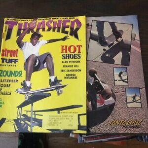 Thrasher-Skateboard-Magazine-May-1991-Pep-Williams-Julien-Stranger-5-91-AS-IS