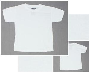 50acb1bfd5db nEW Gildan Dryblend 8000B Youth 50/50 Short Sleeve T-Shirt Tee White ...