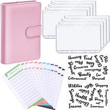 Pu Leather Notebook Binder Budget Planner Organizer 6 Ring Binder Cover 8 12 26