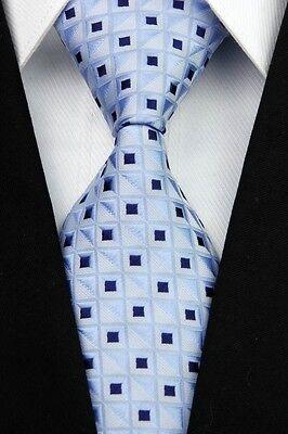 Pink White Black Blue Purple Man Plaid Dot New Classic Silk Men's Tie Necktie