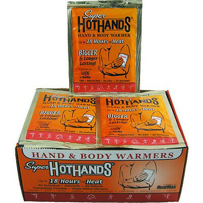 80 HeatMax Super HotHands Hand & Body Warmers Hot Hands Heat Max LARGE NEW!