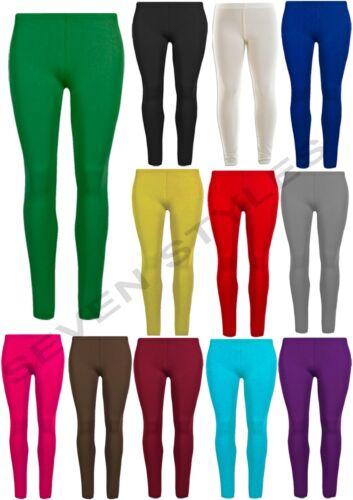 Le Ragazze Spesse Cotone Leggings Bambini Pantaloni elastici Legging Basic Taglia 2-13 anni
