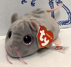 """New TY Teeny Tys MIKO the Gray Mouse 4"""" Stackable Plush Doll Toy Stuffed Animal"""