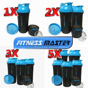 Multi-3in1-GYM-Protein-Supplement-Drink-Blender-Mixer-Shake-Shaker-Ball-Bottle