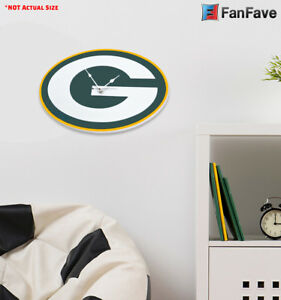 Details About New Nfl Green Bay Packers Home Decor Eva Foam Wall Clock 18 8 X 12 4