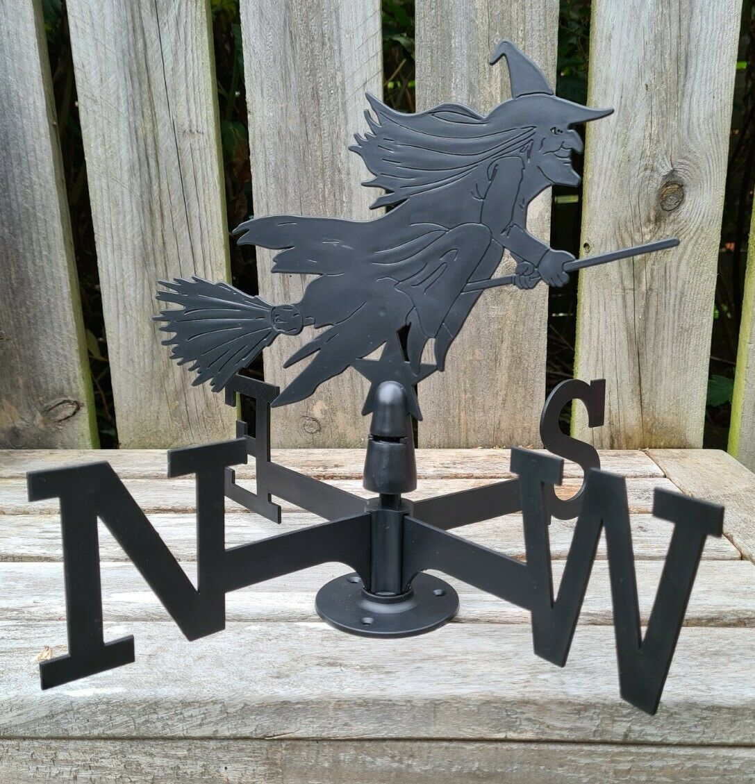 Witch Weather Vane - NEW - Halloween Garden Decoration.