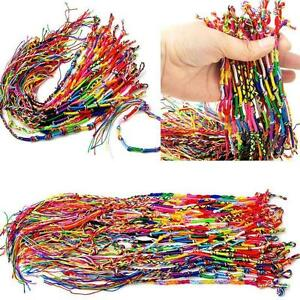 100pcs-Boho-Bracelets-Handmade-Thread-Woven-Friendship-Cords-Hippie-Anklet-Braid