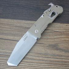 Sanrenmu LAND 9046LCC-GV Tan G10 Folding Knife Bushcraft Survival Tool 12C27