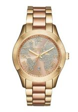 Michael kors womens mk6476 layton 2 tone world map bracelet watch item 2 michael kors mk6476 womens layton rosegold globe dial two tone bracelet watch michael kors mk6476 womens layton rosegold globe dial two tone gumiabroncs Choice Image