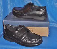 Propet Mens Black Strap Closure Comfort, Walking Shoe 14 M