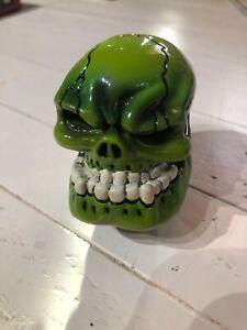 Big Green skull human head cranium shift knob Hot Rod ...