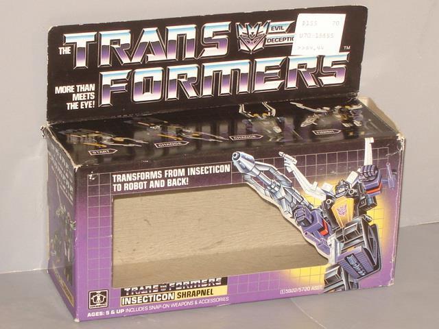 G1 transformator insecticon schrapnell leere kiste viel   3  keine klappe crease   gut in form
